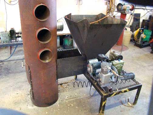 Farm Built Wood Chip Heating Unit